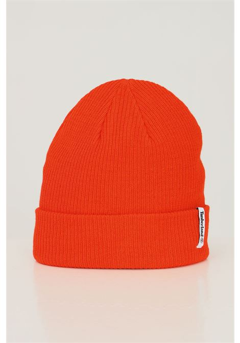 Spicy orange unisex hat by timberland with fabric logo application TIMBERLAND | Hat | TB0A1F8F84518451