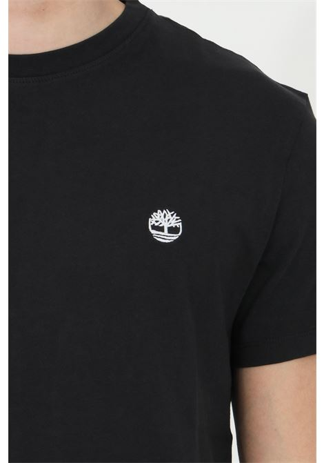 Black dunstan river t-shirt with contrasting logo, basic model with short sleeves. Timberland TIMBERLAND | T-shirt | TB0A2BPR00110011
