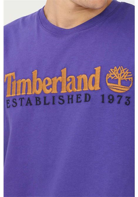 Violet men's t-shirt by timberland with embroidered logo, short sleeve TIMBERLAND | T-shirt | TB0A2CMAA031A031