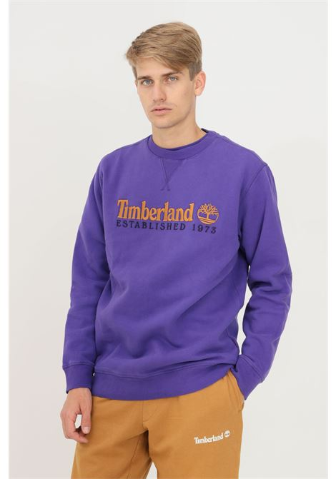 Violet men's sweatshirt by timberland with embroidered logo, crew neck model TIMBERLAND | Sweatshirt | TB0A2CQZA031A031