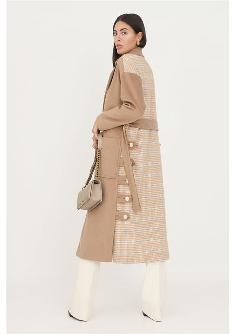 Camel women's coat by un_furtive, double-breasted model with waist belt UN_FURTIVE   Coat   CD1080CAMMELLO
