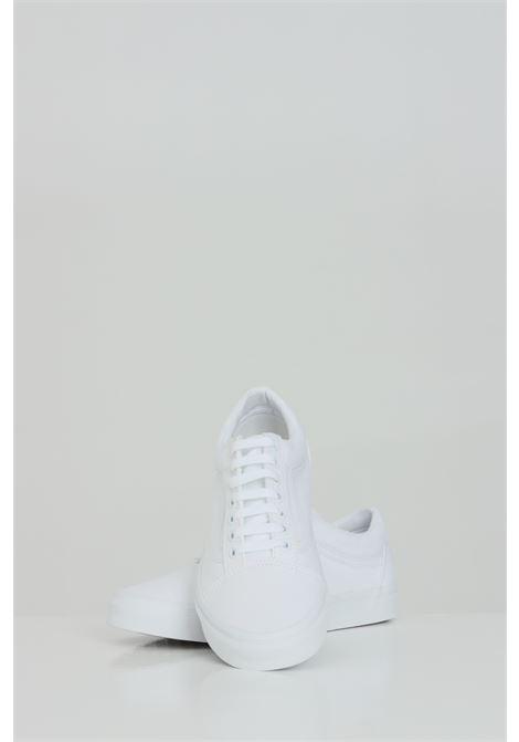 White unisex old skool sneakers with tone on tone logo vans VANS | Sneakers | VN000D3HW001W001