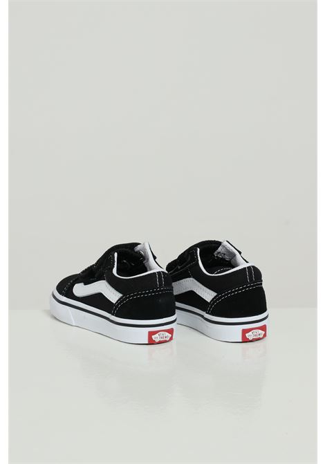 Black-white newborn sneakers with contrasting sole and logo vans VANS | Sneakers | VN000D3YBLK1BLK1