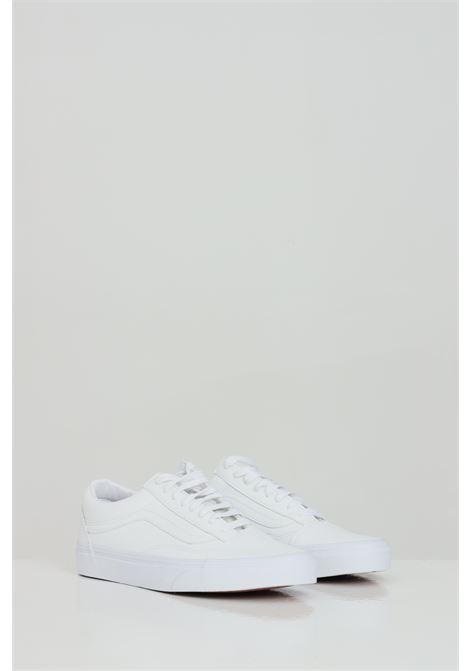 White unisex ua old skool sneakers with tone on tone logo vans  VANS | Sneakers | VN0A38G1ODJ1CDJ1