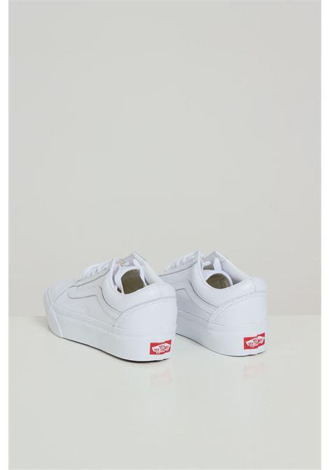White women's skool patform sneakers with tone on tone logo vans  VANS | Sneakers | VN0A3B3U0ER1TRUEWHT/TRUEWHT