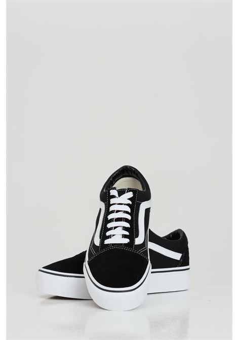 Sneakers old skool platform donna nero vans con logo a contrasto VANS | Sneakers | VN0A3B3UY281Y281