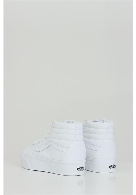 White women's sk8-hi platform 2 sneakers with tone on tone logo vans  VANS | Sneakers | VN0A3TKNQLZ1QLZ1
