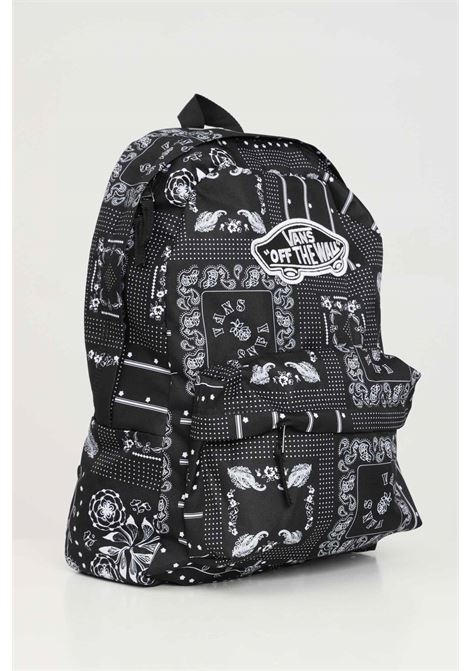 Black unisex realm backpack with allover print vans VANS | Backpack | VN0A3UI6CQ8CQ8