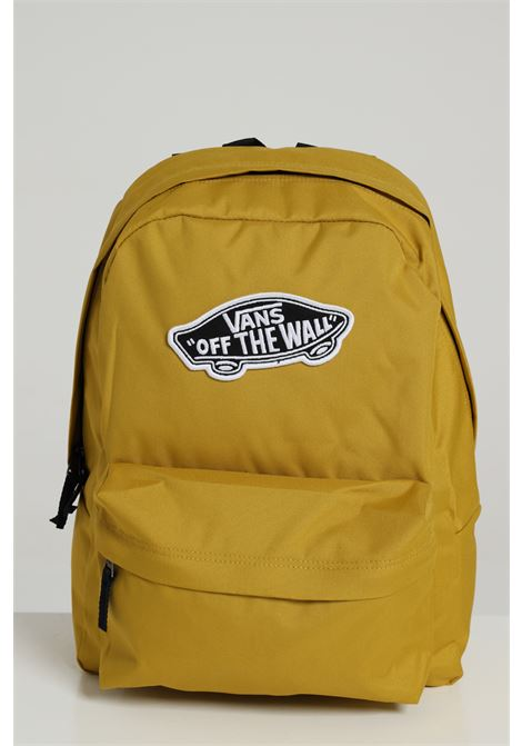 Olive backpack in solid color with logo print on the front and closure with zip, adjustable straps. Pens and PC pocket. Vans VANS | Backpack | VN0A3UI6ZLM1OLIVE