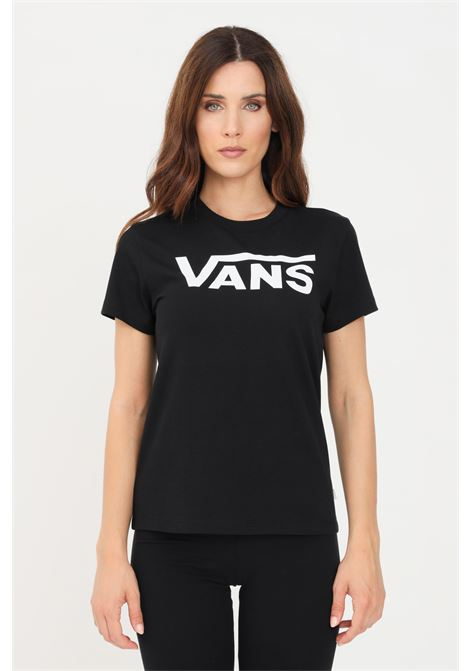 Black women's t-shirt short sleeve by vans   VANS | T-shirt | VN0A3UP4BLK1BLK1