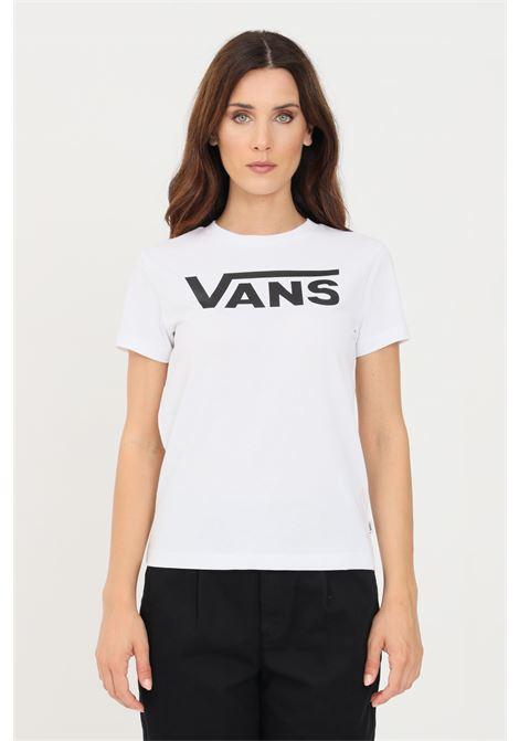 White women's t-shirt short sleeve by vans   VANS | T-shirt | VN0A3UP4WHT1WHT1