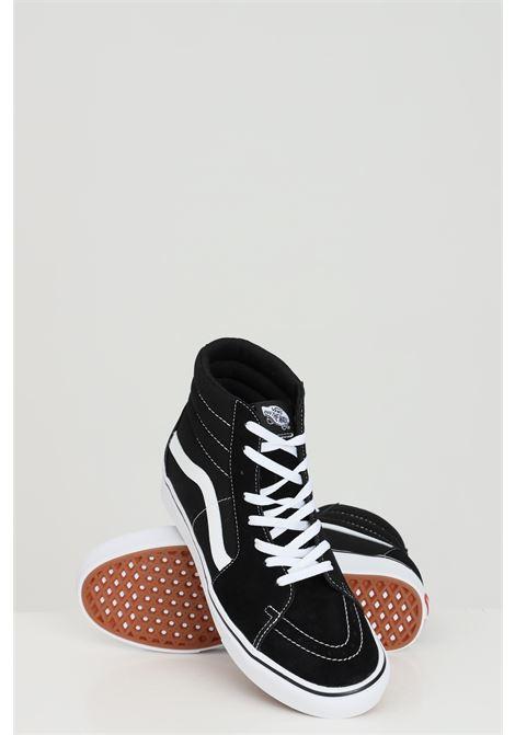 Black unisex sneakers boot model with side logo in contrast vans  VANS | Sneakers | VN0A3WMBVNE1VNE1