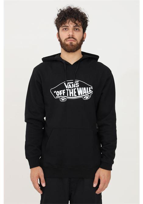 Felpa uomo nero vans con cappuccio e logo a contrasto VANS | Felpe | VN0A45CKBLK1BLK1