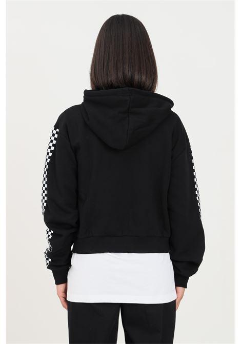 Black women's hoodie by vans with zip  VANS | Sweatshirt | VN0A47T0BLKBLK