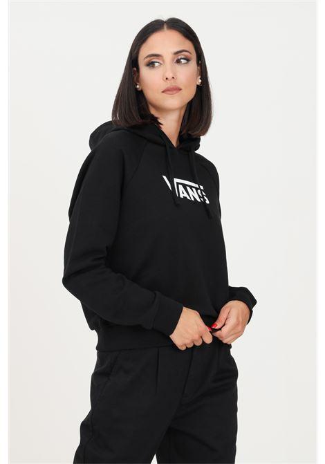 Black women's hoodie by vans with logo on the front VANS | Sweatshirt | VN0A4BG3BLK1BLK1