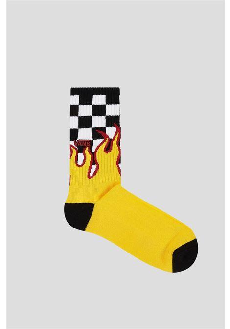 Yellow unisex socks by vans with flame print VANS | Socks | VN0A4TQHZIAZIA