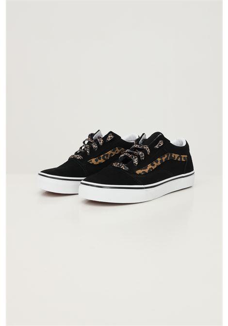 Black women's old skool sneakers by vans with leopard inserts VANS | Sneakers | VN0A4UHZNU01NU01