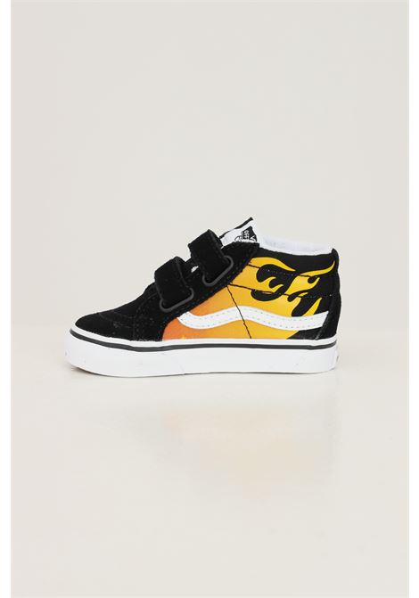 Sneakers sk8 mid reissue v neonato nero vans con stampa fiamme VANS | Sneakers | VN0A5DXD99C199C1