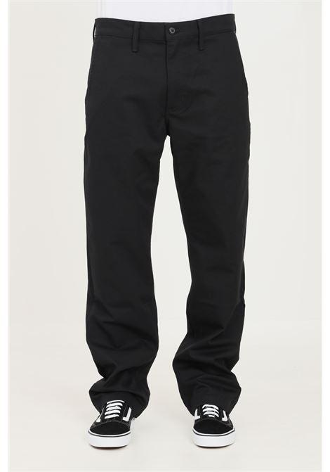 Pantaloni uomo nero vans modello casual con zip e bottone VANS | Pantaloni | VN0A5FJ88BLK1BLK1