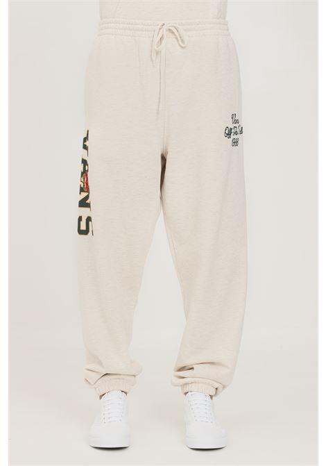 Pantaloni uomo beige vans modello casual con elastico in vita VANS | Pantaloni | VN0A5FJR0HC10HC1