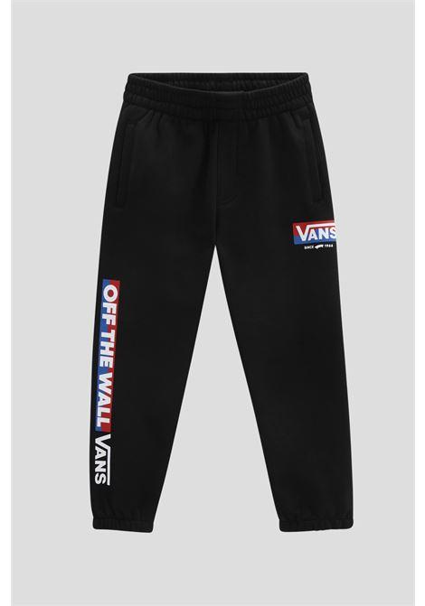 Black baby easy logo trousers by vans VANS | Pants | VN0A5FM5BLK1BLK1