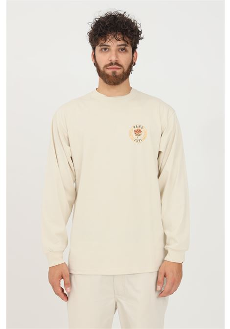 T-shirt uomo beige vans a manica lunga con stampa frontale VANS | T-shirt | VN0A5FQH2N112N11