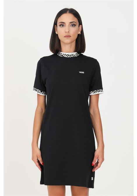 Black women's dress by vans with contrasting embroidered logo VANS | Dress | VN0A5JGSBLKBLK
