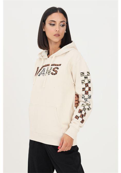 Cream women's hoodie by vans VANS | Sweatshirt | VN0A5JGUEDQEDQ