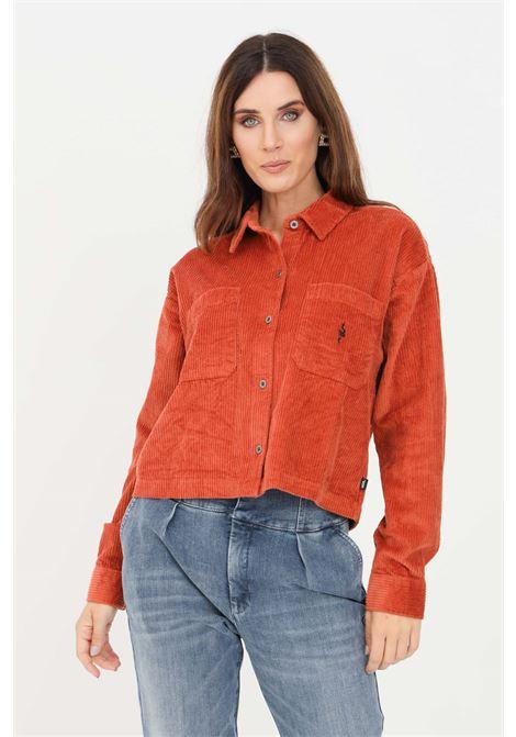 Orange women's surf supply ainara shirt by vans casual model VANS | Shirt | VN0A5JHQ90W190W1
