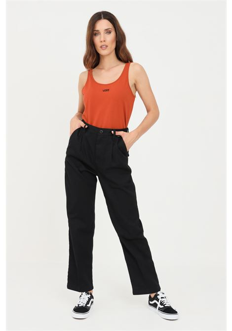 Black women's trousers casual model by vans  VANS | Pants | VN0A5JHTBLK1BLK1