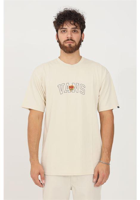 T-shirt beige uomo vans a manica corta con stampa logo VANS | T-shirt | VN0A5KC92N112N11