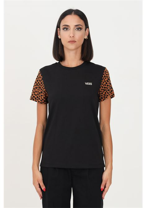 Black women's t-shirt by vans with embroidered logo, short sleeve VANS | T-shirt | VN0A5L65Z45Z45