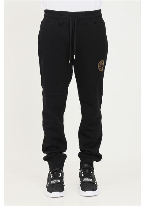 Black men's trousers by versace jeans couture, casual model with gold logo VERSACE JEANS COUTURE | Pants | 71GAAT03CF00TG89 (899+948)
