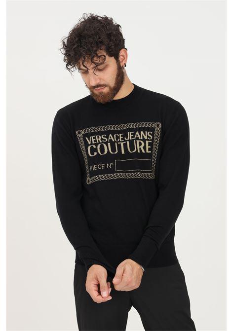 Maglioncino uomo nero versace jeans couture girocollo VERSACE JEANS COUTURE   Maglieria   71GAF801CM06HK42 (899+948)