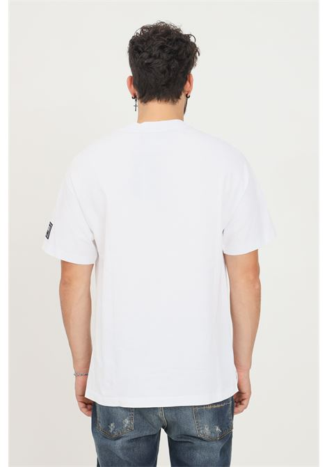 White men's t-shirt by versace jeans couture short sleeve VERSACE JEANS COUTURE | T-shirt | 71GAHP02CJ00P003