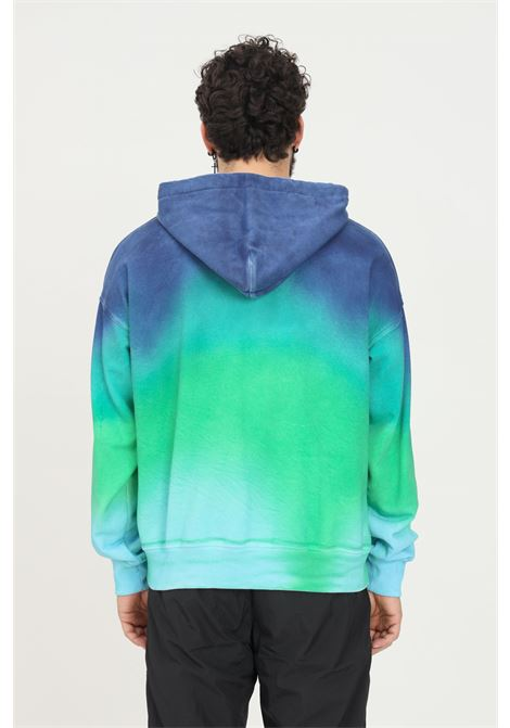 Blue green men's hoodie by versace jeans couture VERSACE JEANS COUTURE   Sweatshirt   71GAI338FE00006DOB0 (168+243)