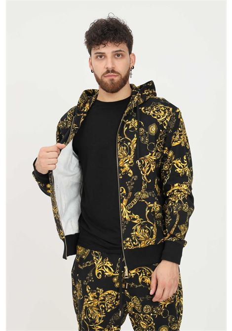 Men's hoodie by versace jeans couture with zip VERSACE JEANS COUTURE | Sweatshirt | 71GAI3Z0FS002G89 (899+948)