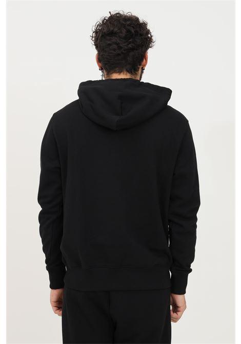 Felpa uomo nero versace jeans couture con cappuccio e ricamo logo oro frontale VERSACE JEANS COUTURE   Felpe   71GAIT01CF00TG89 (899+948)