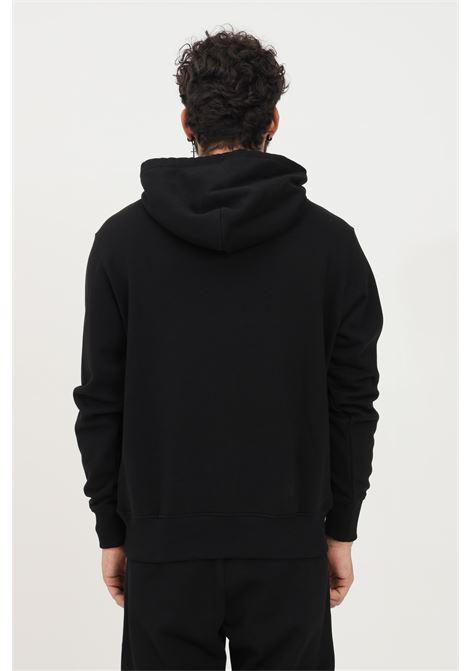 Felpa uomo nero versace jeans couture con cappuccio e logo frontale VERSACE JEANS COUTURE   Felpe   71GAIT03CF00T899