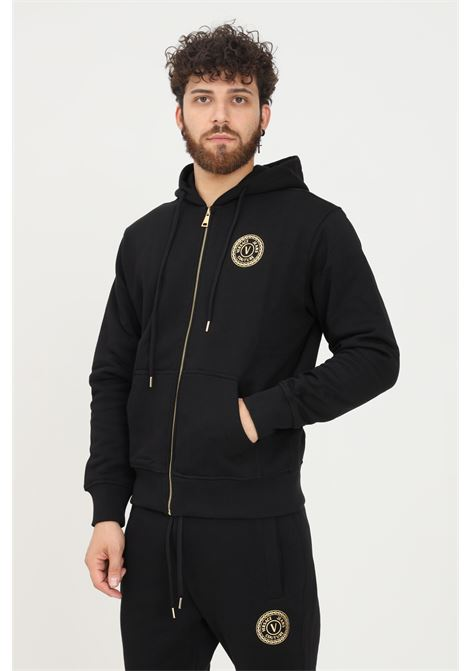 Felpa uomo nero versace jeans couture con zip e cappuccio VERSACE JEANS COUTURE   Felpe   71GAIT09CF00TG89 (899+948)