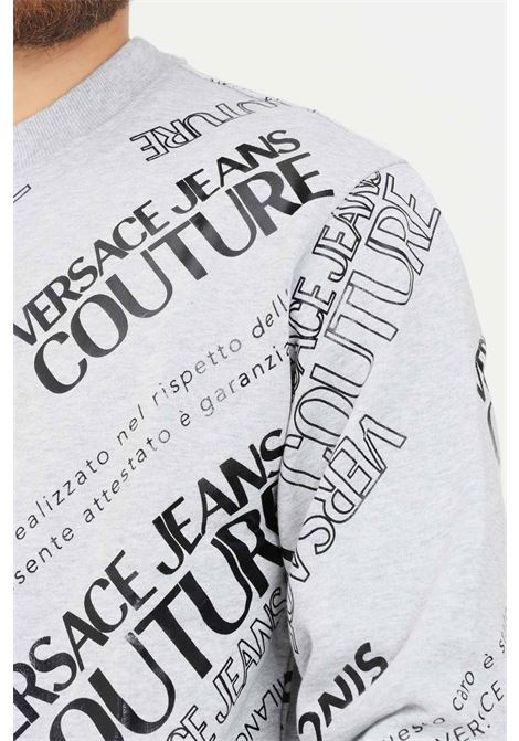 Grey men's sweatshirt by versace jeans couture, crew neck VERSACE JEANS COUTURE | Sweatshirt | 71GAIT14CF00T802