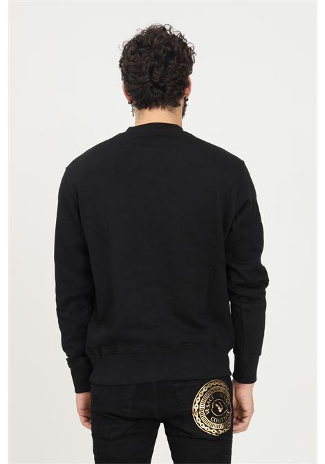 Felpa uomo nero versace jeans couture modello girocollo con maxi stampa oro VERSACE JEANS COUTURE   Felpe   71GAIT15CF00TG89 (899+948)
