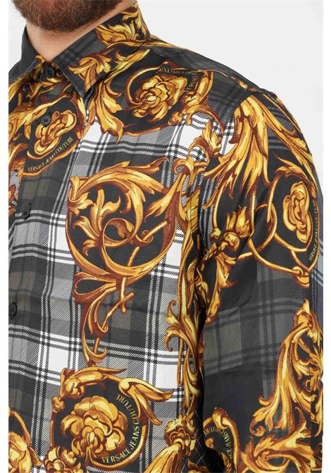 Fantasy men's shirt by versace jeans couture casual model with allover print  VERSACE JEANS COUTURE   Shirt   71GAL2R6NS029G80 (800+ORO)