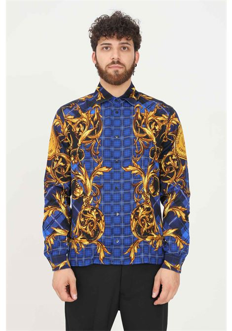 Fantasy men's shirt by versace jeans couture casual model with allover print  VERSACE JEANS COUTURE   Shirt   71GAL2R8NS031G42 (242+ORO)