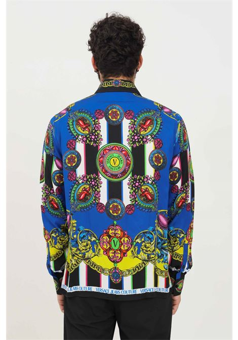 Camicia uomo versace jeans couture con stampa allover VERSACE JEANS COUTURE   Camicie   71GAL2R9NS032982