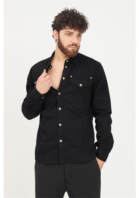Camicia nero uomo versace jeans couture con bottoni VERSACE JEANS COUTURE   Camicie   71GALC09CDW05909