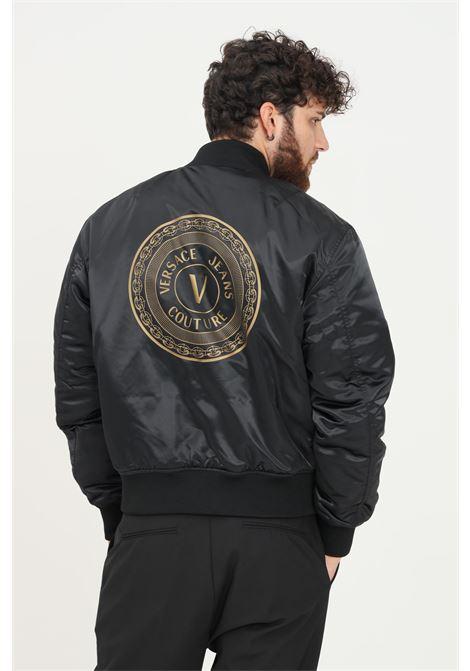 Black men's doubleface jacket by versace jeans couture VERSACE JEANS COUTURE | Jacket | 71GAS407CQS00G89 (899+948)