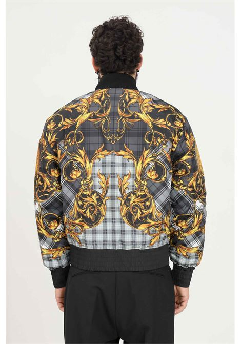Black men's bomber jacket by versace jeans couture with stand-up collar VERSACE JEANS COUTURE | Jacket | 71GAS421CQS06G80 (800+ORO)