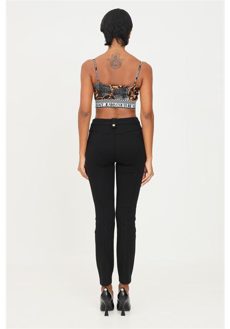 Black women's trousers by versace jeans couture in stretch fabric VERSACE JEANS COUTURE | Pants | 71HAA109N0007899
