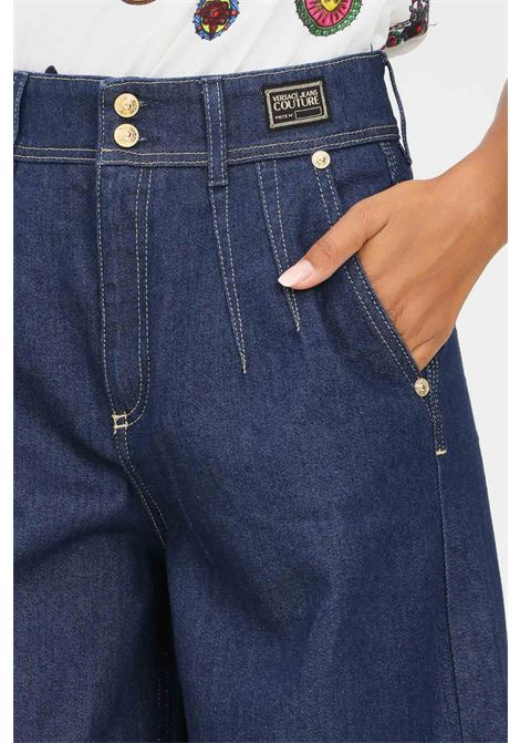 Blue women's jeans by versace jeans couture high waist VERSACE JEANS COUTURE | Jeans | 71HAB55IDW007054904